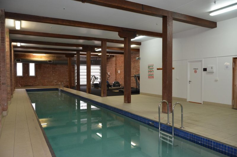 Heated lap pool, sauna and gym open daily from 0600 till 2200