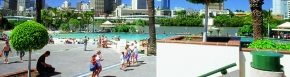 Southbank recreation area - ideal for young families